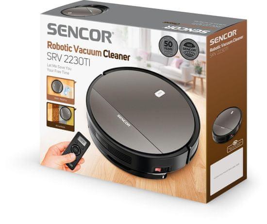 SENCOR SRV 2230TI Robotický Vysavač 2v1 AllFloor GYRO