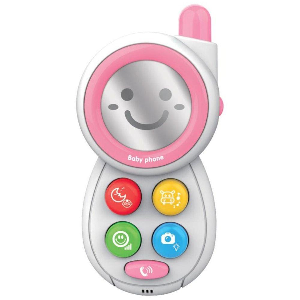 Baby Mix Dětská hračka se zvukem Baby Mix Telefónek pink