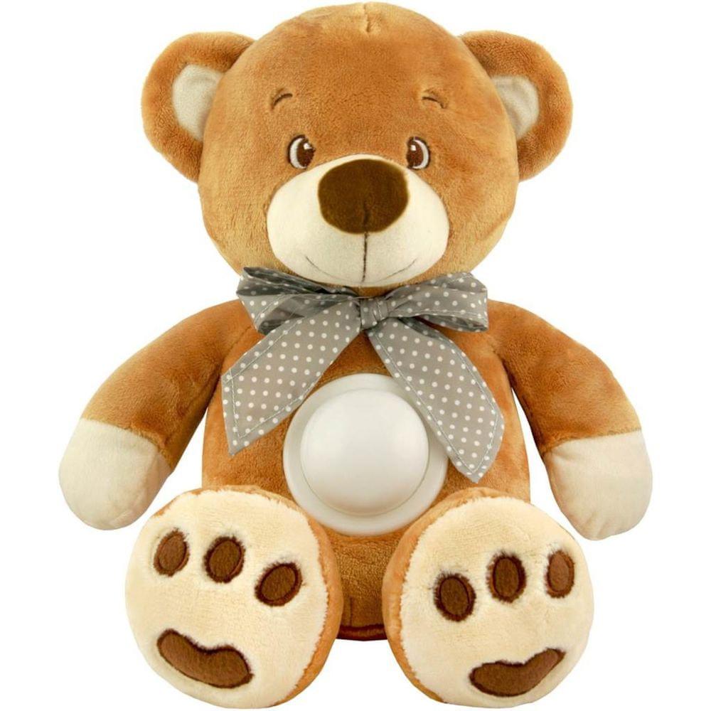Baby Mix Plyšový usínáček medvídek s projektorem Baby Mix hnědý