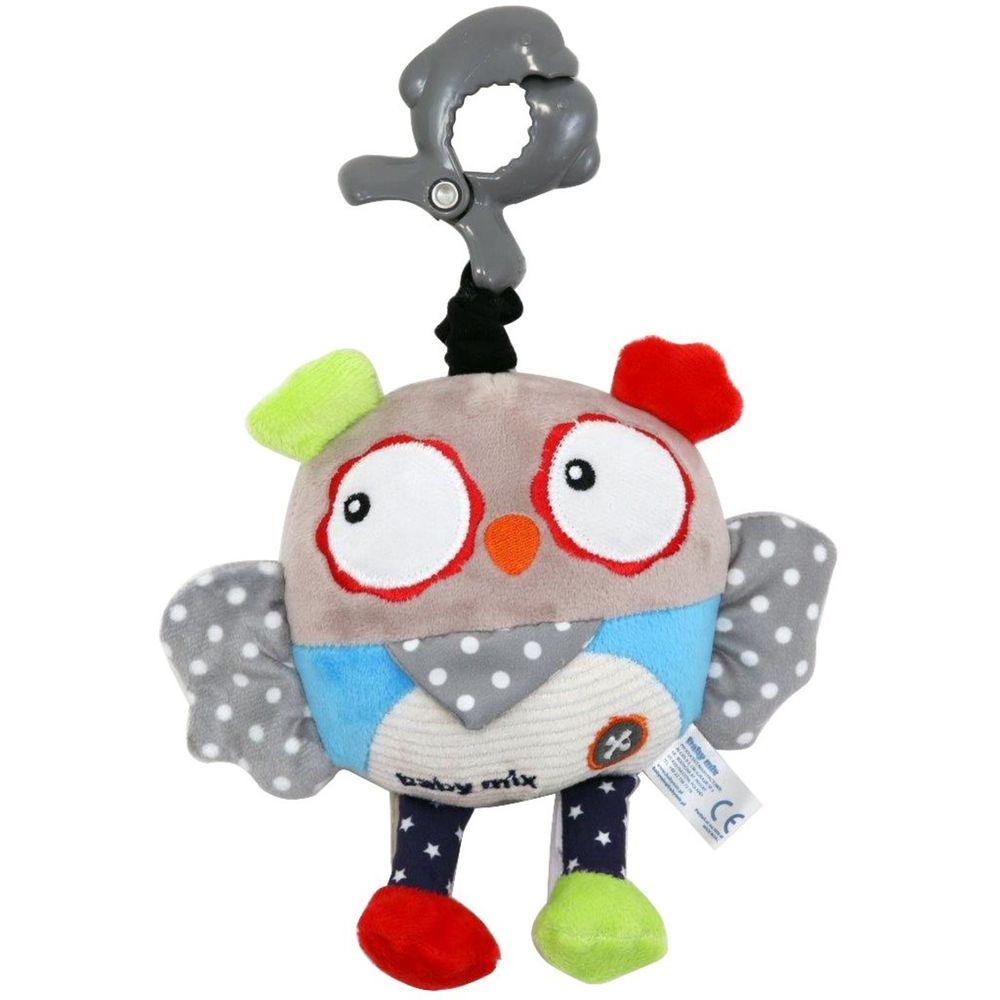 Baby Mix Dětská plyšová hračka s hracím strojkem Baby Mix Sova