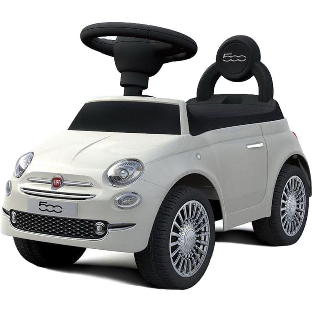Baby Mix Odrážedlo Baby Mix FIAT 500 bílé