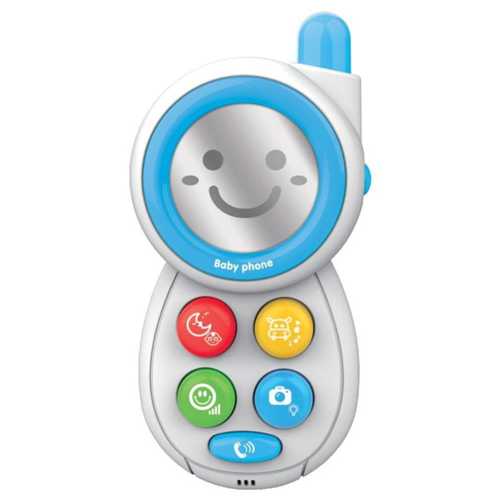 Baby Mix Dětská hračka se zvukem Baby Mix Telefónek modrý