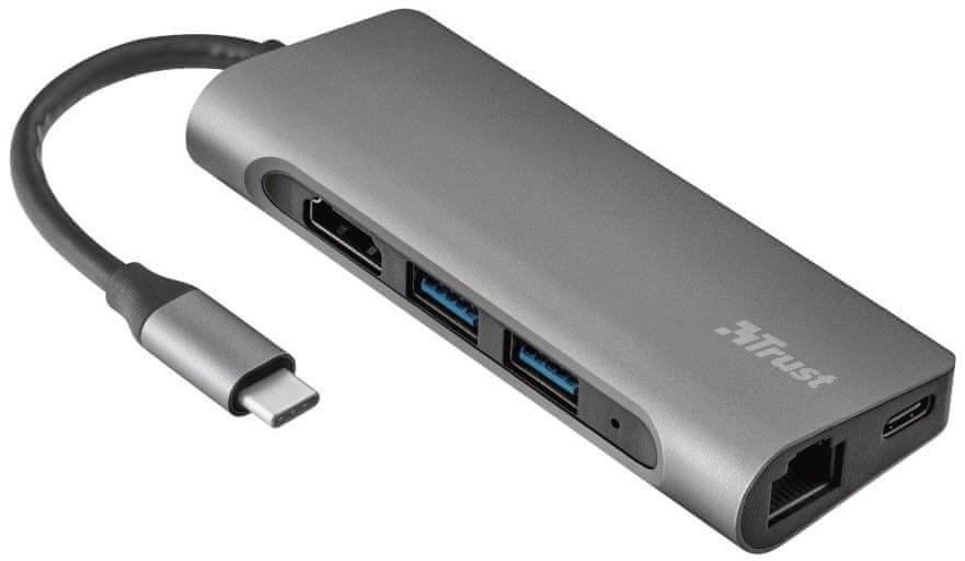 Trust Dalyx 7v1 USB-C Adaptér 23331