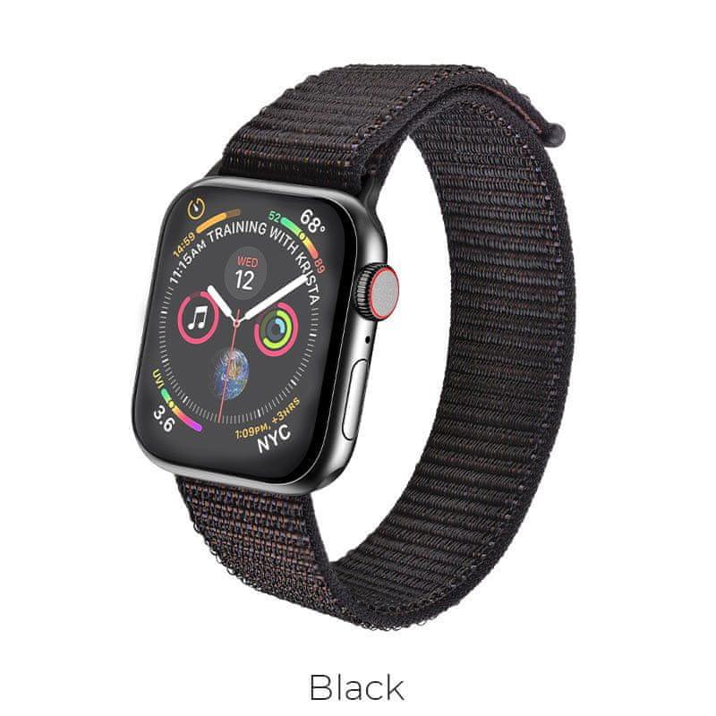 Hoco Sportovní náramek Apple Watch (Černý) 38/40mm
