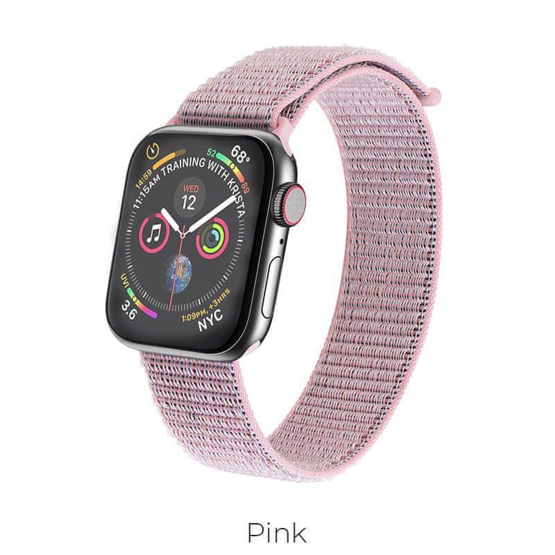 Hoco Sportovní náramek Apple Watch (Růžový) 42/44mm