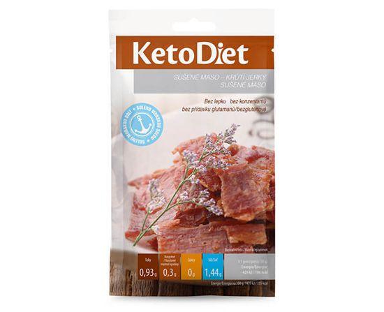 KetoDiet Sušené maso krůtí jerky 3 x 30 g