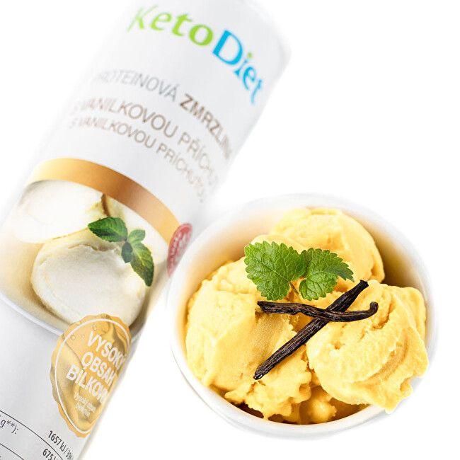 KetoDiet Proteinová zmrzlina s vanilkovou příchutí (20 porcí)