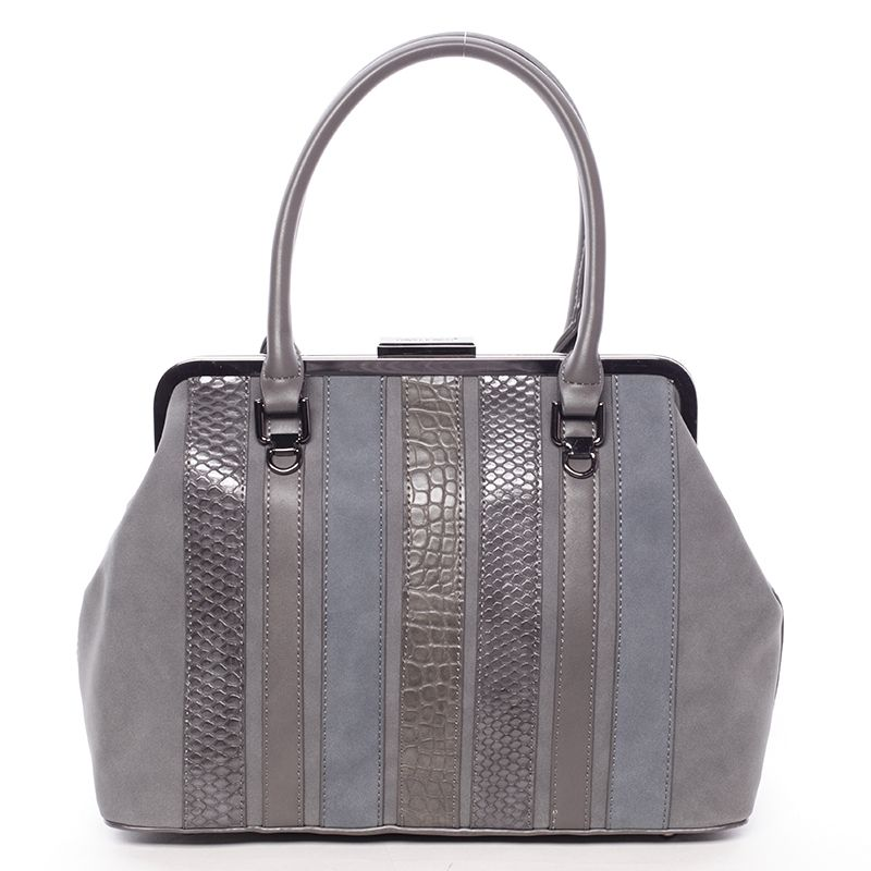 David Jones Luxusní kabelka do ruky PAULETTE, tmavě šedá