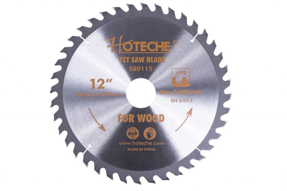 Hoteche Pilový kotouč na dřevo 305 mm, 40 zubů - HT580115 | Hoteche
