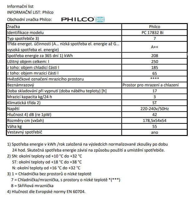 Philco PC 17832 Bi + bezplatný servis 36 měsíců