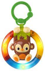 Bright Starts Zenélő játék, ragyog a C gyűrűn, Shake & Glow majom 3m +