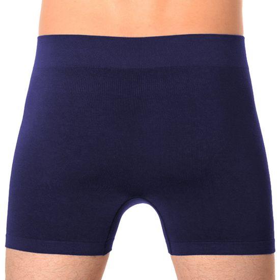 Gino Pánské boxerky bezešvé bambusové modré (54004)
