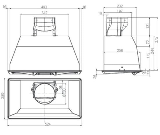 Whirlpool AKR 650/1 IX beépített elszívó