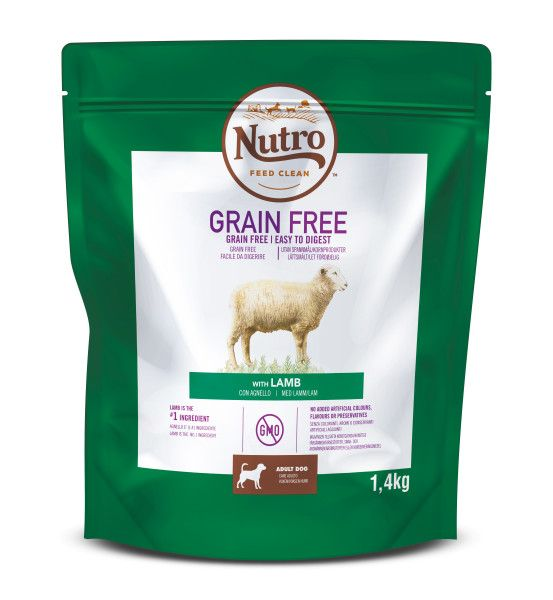 Nutro Grain Free granule s jehněčím pro dospělé psy 1,4 kg