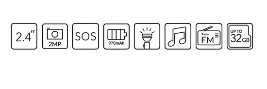 Alcatel 2019G mobilni telefon, s polnilno postajo, kovinsko črn