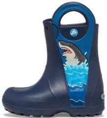 Crocs FL Shark Ptch Rain Boot B fantovski škornji Navy 206174-410, 34-35, modri