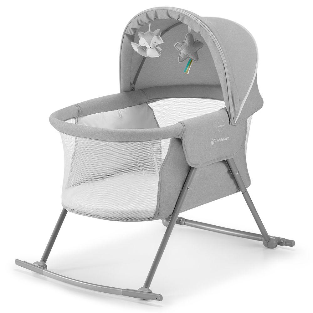 KinderKraft Dětská postýlka LOVI grey - rozbaleno