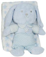 Interbaby deka sa zekom, 80×110, plava