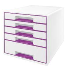 Leitz Box zásuvkový WOW 5 zásuvek bílý/purpurový