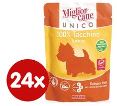 Miglior Cane Unico mokra hrana za pse, puran, 24 x 100 g