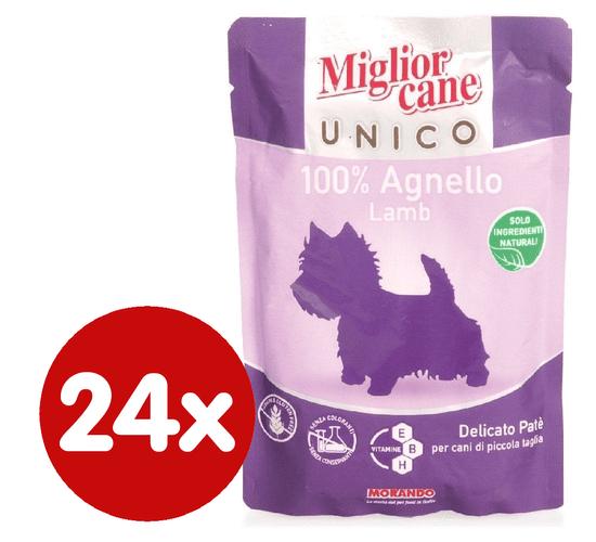 Miglior saszetka Cane Unico, Jagniecina, 24x100g