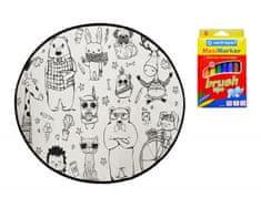 KOBEREC - OMALOVÁNKY - Happy Friends 130x130 (průměr) kruh