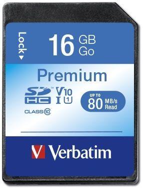 Verbatim Premium SDHC 16GB UHS-I V10 U1 (43962)