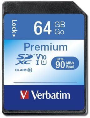 Verbatim Premium SDXC 64GB UHS-I V10 U1 (44024)