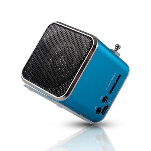 setty. Głośnik z radiem MF-100, niebieski