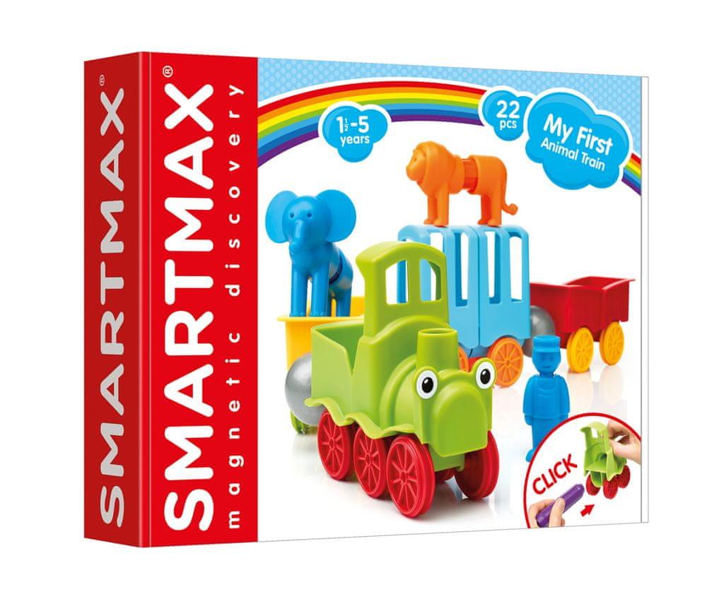 SmartMax Můj první vláček se zvířátky - 22 ks