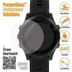 PanzerGlass zaščitno steklo SmartWatch za različne vrste pametnih ur, prozorno, 34 mm (3606)