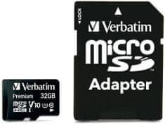 Verbatim Premium microSDHC 32GB UHS-I V10 U1 + SD adaptér (44083)