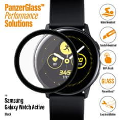 PanzerGlass zaščitno steklo za pametno uro SmartWatch za Samsung Galaxy Watch Active, črna (7204)