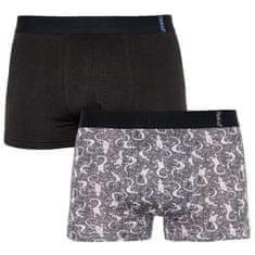Molvy 2PACK pánske boxerky viacfarebné (KP-068-BEU) - veľkosť XXL