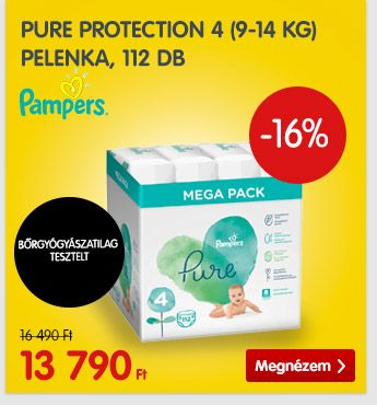 Pampers Pure Protection 4 (9-14 kg) 112 db