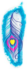 Bestway napihljiva blazina 43241, motiv peresa, 189 x 79 cm