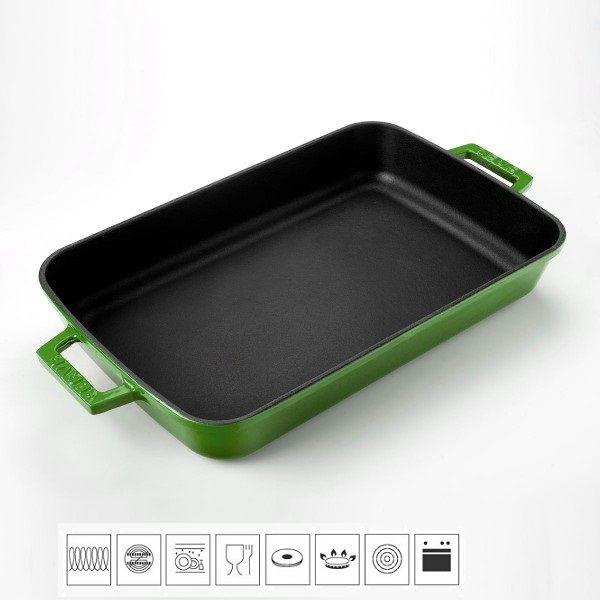 Lava Litinový pekáč 22x30cm - zelený LVPTP2230K0G
