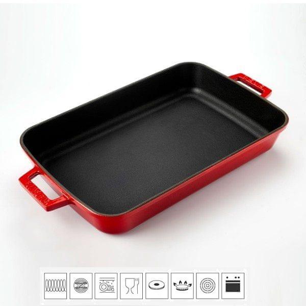 Lava Litinový pekáč 22x30cm - červený LVPTP2230K0R