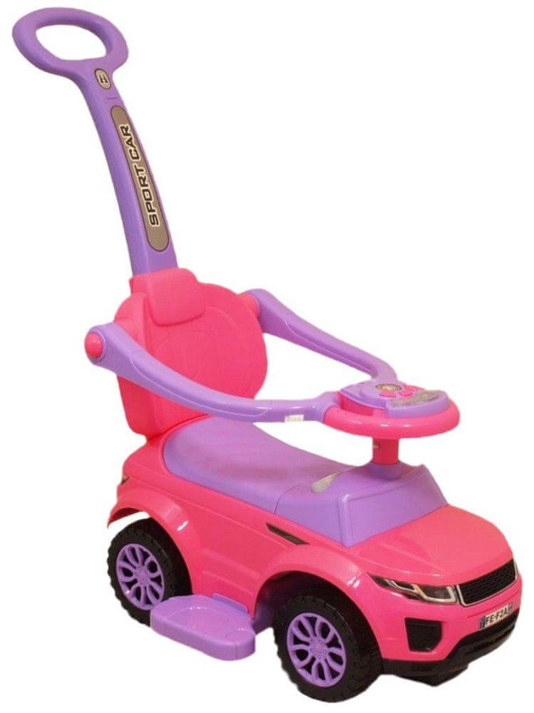 Baby Mix Dětské hrající jezdítko 3v1 Baby Mix růžové