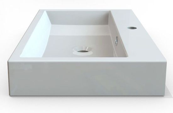 SAPHO ORINOKO umyvadlo 70x42cm, litý mramor, bílá (OR070)
