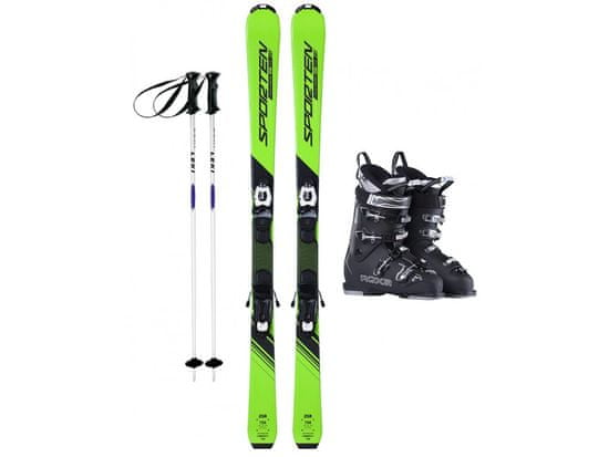 Sporten půjčení lyžařského setu na celou zimu (lyžáky: 23,5 cm, lyže: 148 cm, hůlky: s holemi)