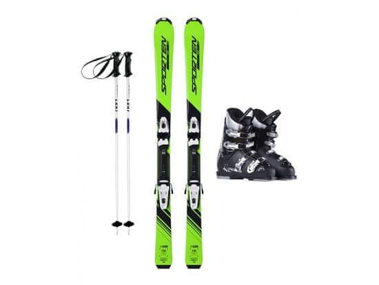 Sporten půjčení lyžařského setu na celou zimu (lyže: 140 cm, lyžáky: 28,5 cm, hůlky: s holemi)