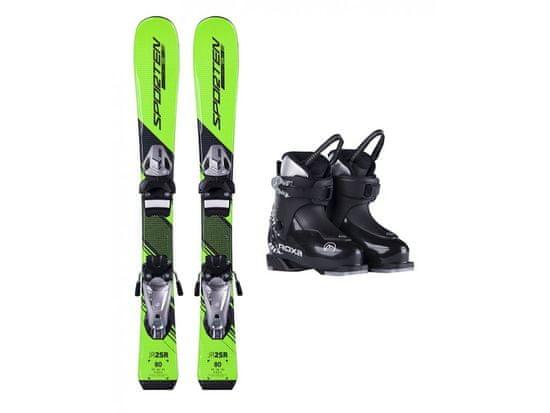 Sporten půjčení lyžařského setu na celou zimu (lyže: 90 cm, lyžáky: 18,5 cm, hůlky: s holemi)