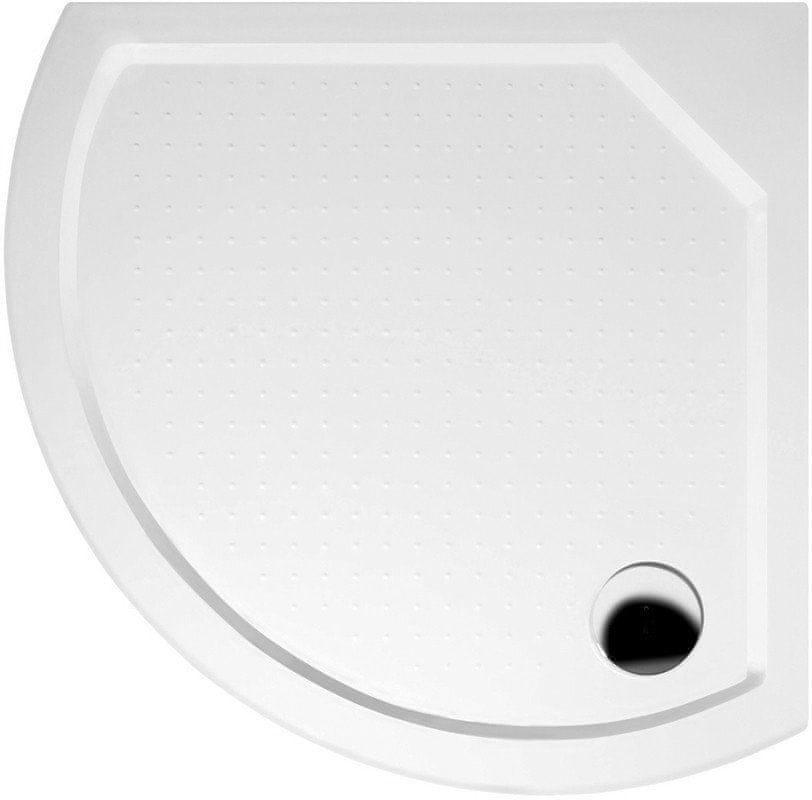 Gelco DITA80 sprchová vanička z litého mramoru, čtvrtkruh 80x80x4cm, R590 (GD608)
