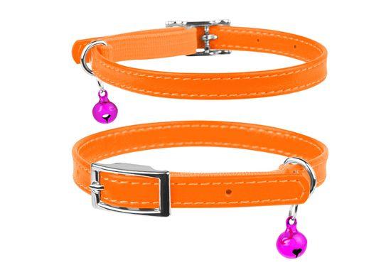 Wau Dog Kožený obojek pro kočku oranžový