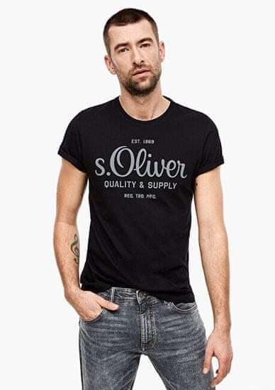 s.Oliver Pánské triko 03.899.32.5264.9999 Black