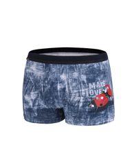 Cornette Pánské valentýnské boxerky Cornette 010/61 Make Love jeans L