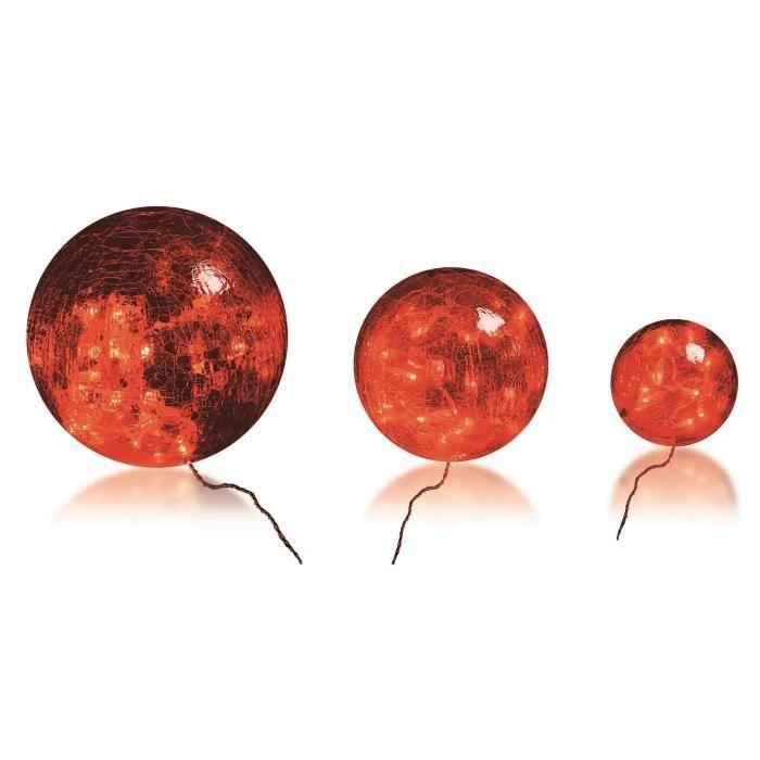 Bachere Illum. vánoční LED skleněné koule, 3 ks