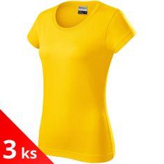 Rimeck 3x Žluté Odolné dámské tričko tlustší