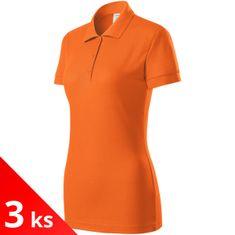Piccolio 3x Oranžová Dámská polokošile přiléhavá